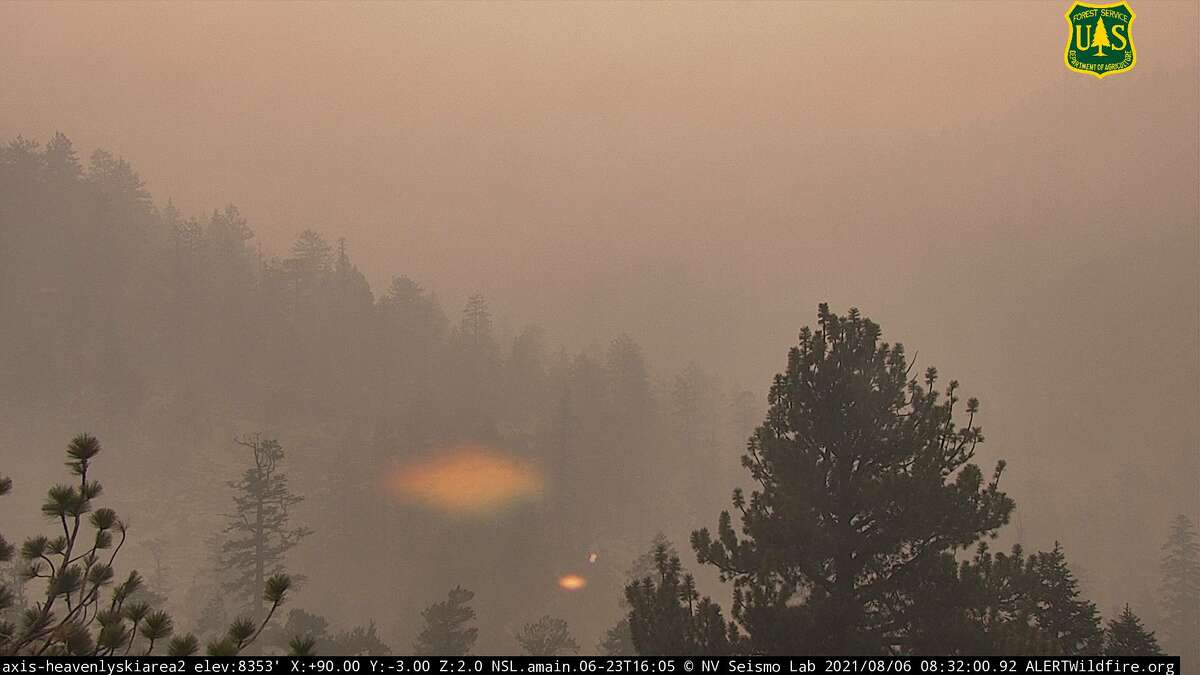Completely white': Ash, smoke fall on Tahoe Basin