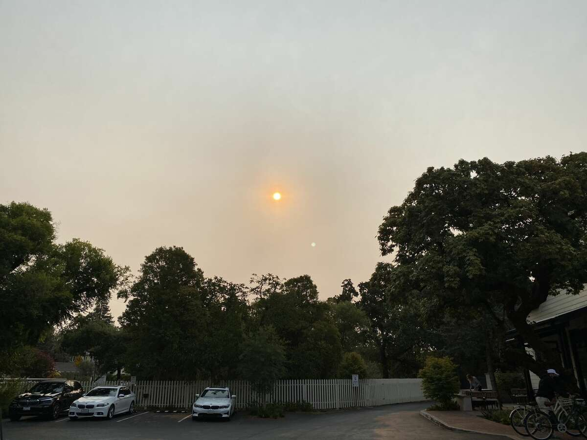 RECORD - Skies were clouded over Sonoma, California, on August 6 due to smoke from wildfires in the northwestern part of the state.