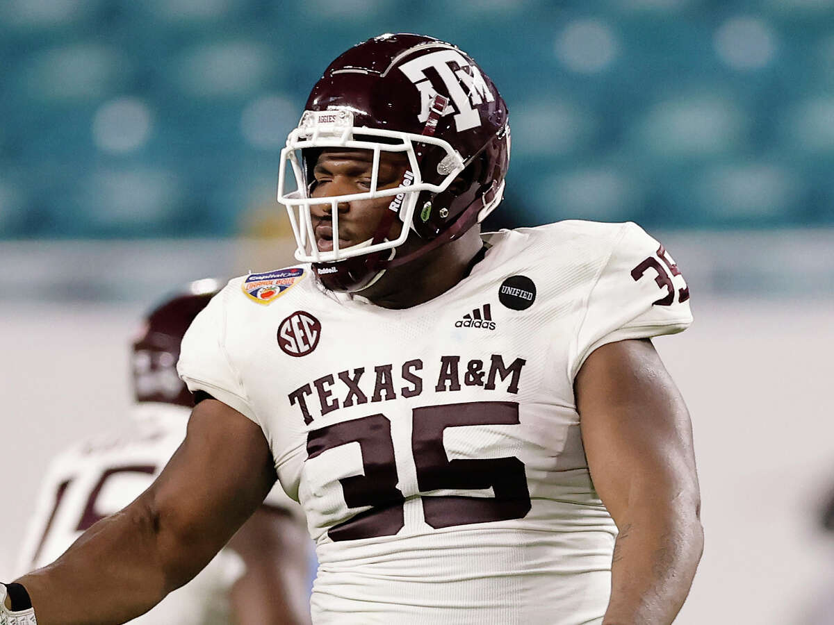 Texas A&M defensive lineman McKinnley Jackson has been suspended following an arrest on drug-related charges.