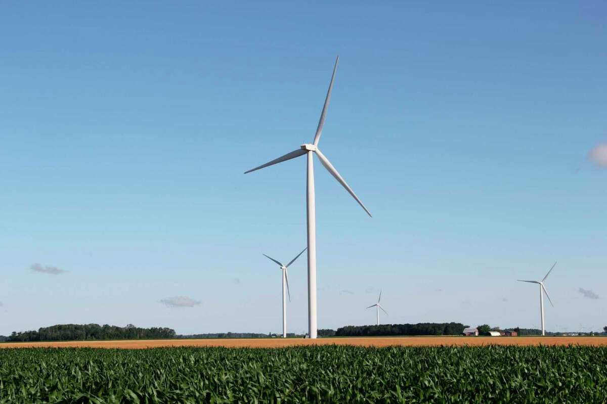 Sigel and Bloomfield Townships are appealing a ruling that they owe back taxes to DTE over taxation rates on wind turbines. The legal battle over the right taxation rates for the turbines has been going on in Huron County since 2011. (Tribune File Photo)
