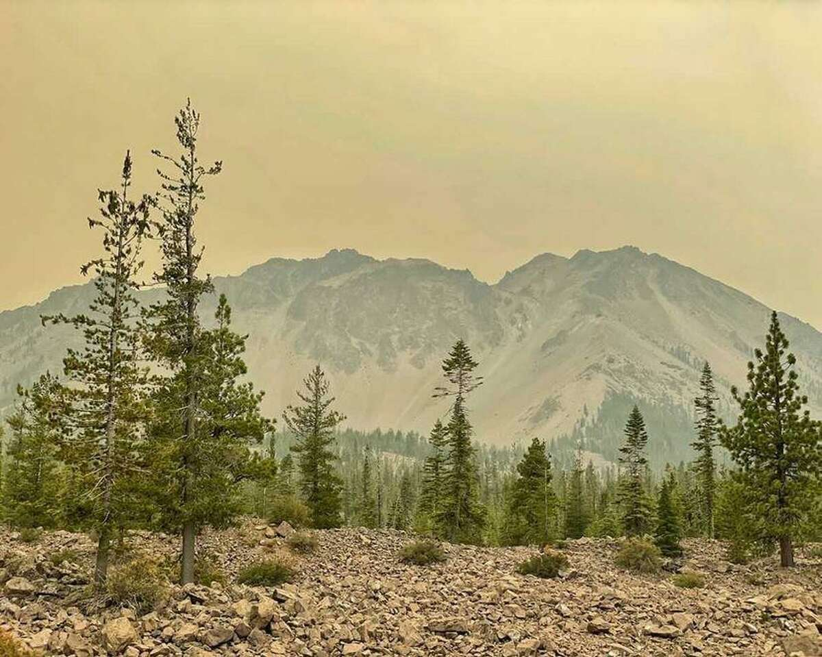 Over the last two weeks, smoke from the Dixie Fire has cast a yellow glow over Lassen Volcanic National Park.