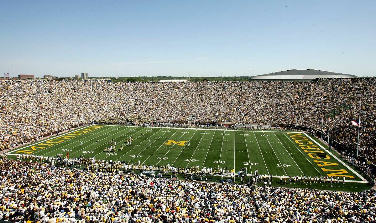 A typically huge crowd packs Michigan Stadium for a Sept. 10, 2005 game between Michigan and Notre Dame.
