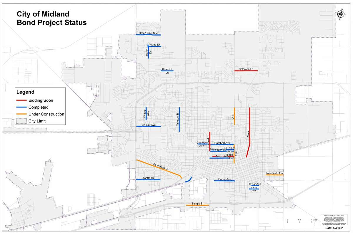 City of Midland Road Bond Projects