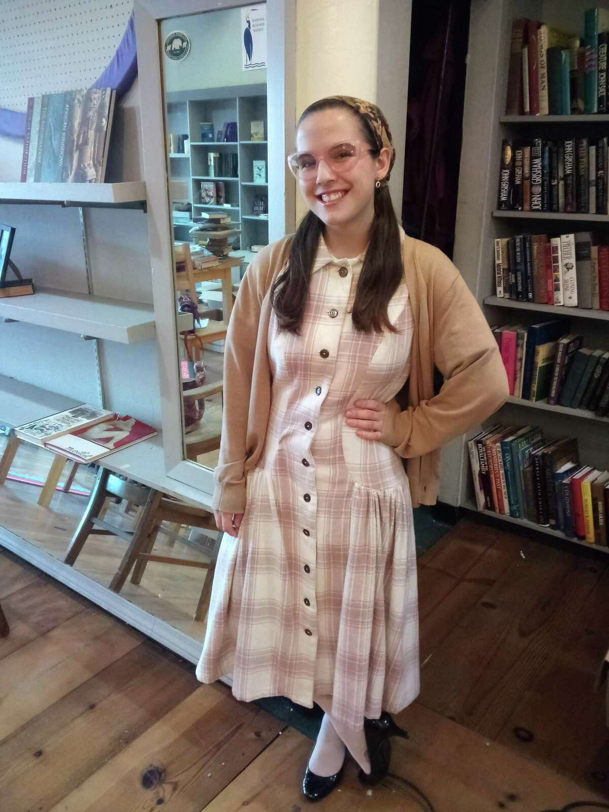 Emily Delventhal-Sali, a seamstress and Torrington resident, is running her new business out of the Howard building on Main Street, Torrington.