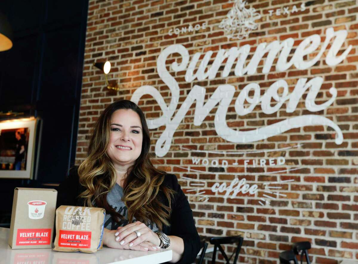 Franchise owner Angie Kober will open the new Summer Moon Coffee along South Loop 336 to the public on July 31. The Conroe location is the fourth in the Houston metro area.
