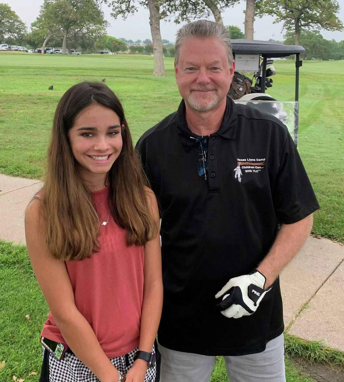 The Conroe Noon Lions Club is proud to announce Lion Wes Carr as the 2021-2022 Texas Lions Camp Chairman of the Board; only one other club member has served in this position in the camp's 70-plus years. Lion Wes is pictured here during the camp's annual golf tournament with the 2021 TLC Ambassador Camper Sofia Elder.