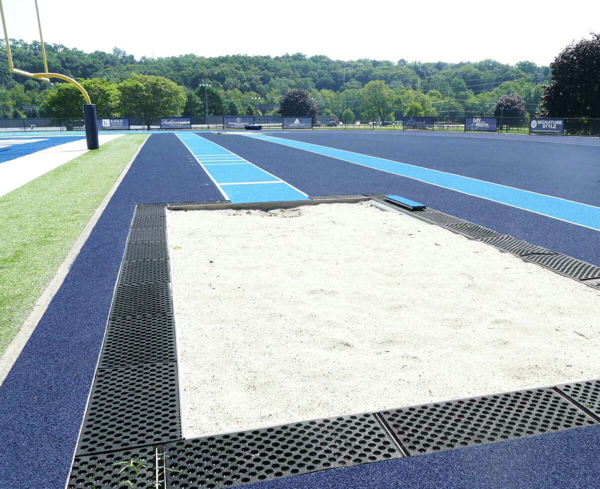 One of the new runways to the sand pits on the far end of the track.