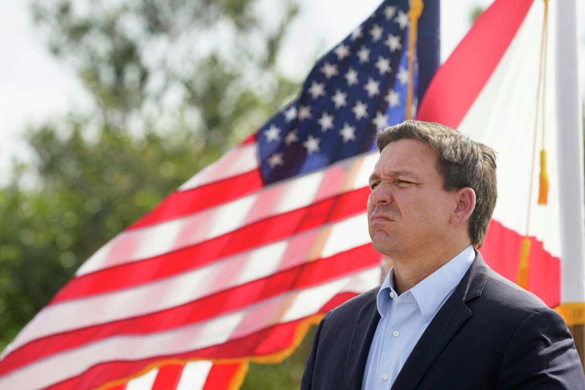 """Florida Gov. Ron DeSantis says the pandemic has presented Americans with a choice between """"a free society"""" and a """"biomedical security state."""""""