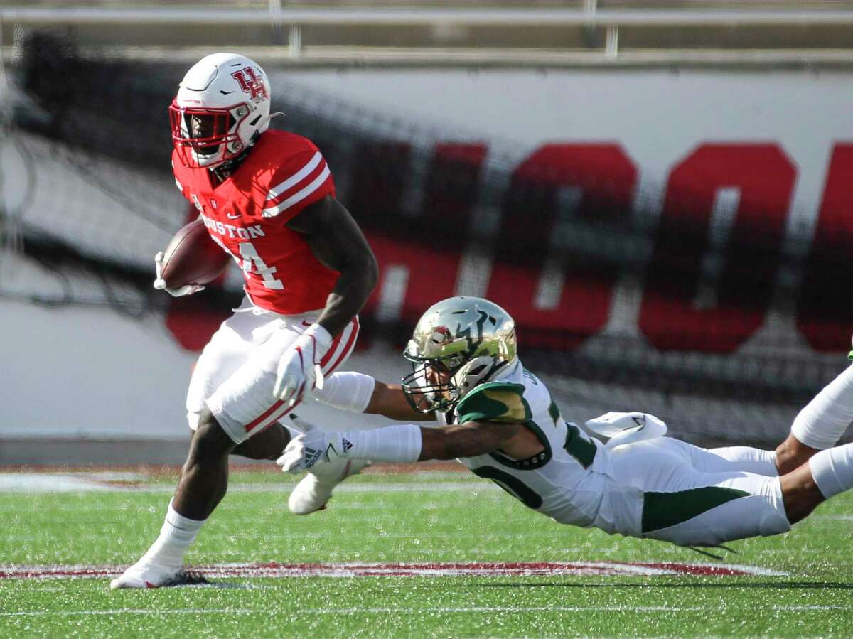 Running back Mulbah Car is a 'super senior' for UH, returning for a bonus season after COVID-19 impacted 2020.