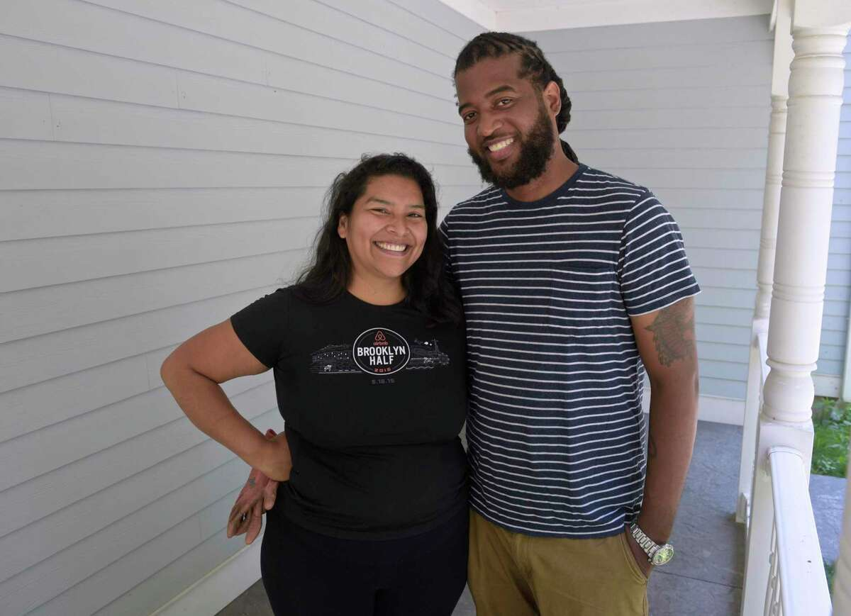 Elizabeth Guerra and Hector Gerardo would like to establish a three acre farm in Danbury. Friday, August 6, 2021.