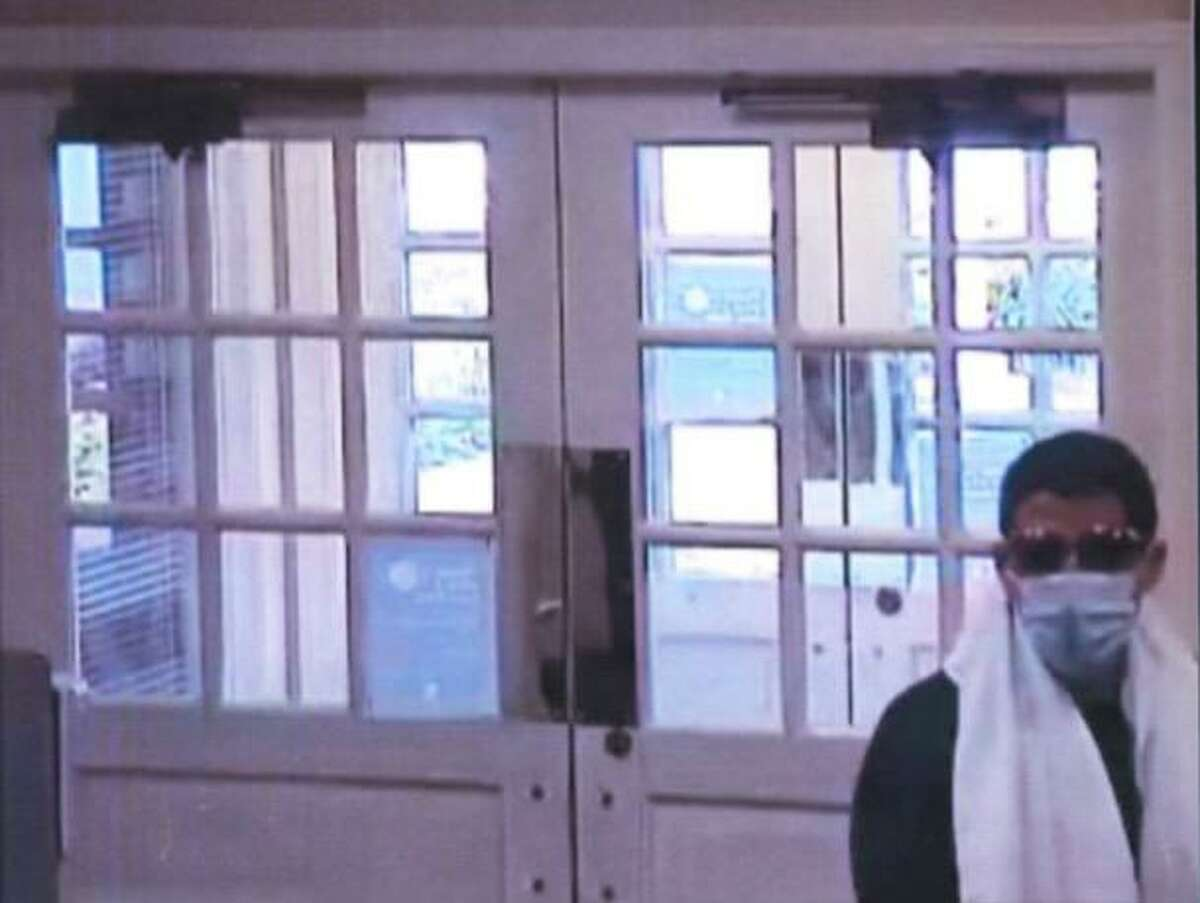 Police are searching for this suspect in connection with bank robberies in Sharon and Cornwall.