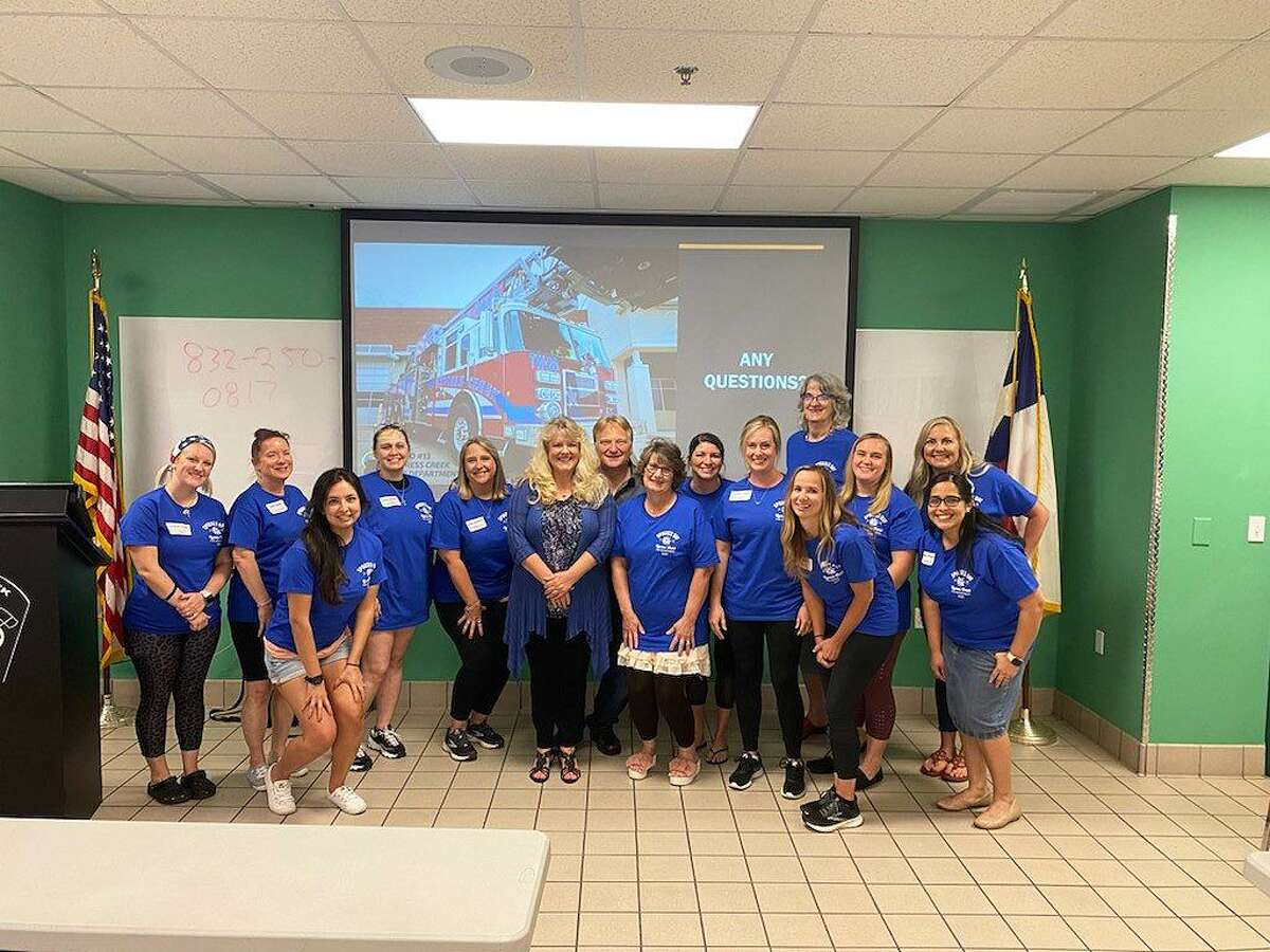 Spouses of first responders at Cy-Creek Fire Department enjoyed seeing the workplace and equipment their firefighters use on a daily basis.