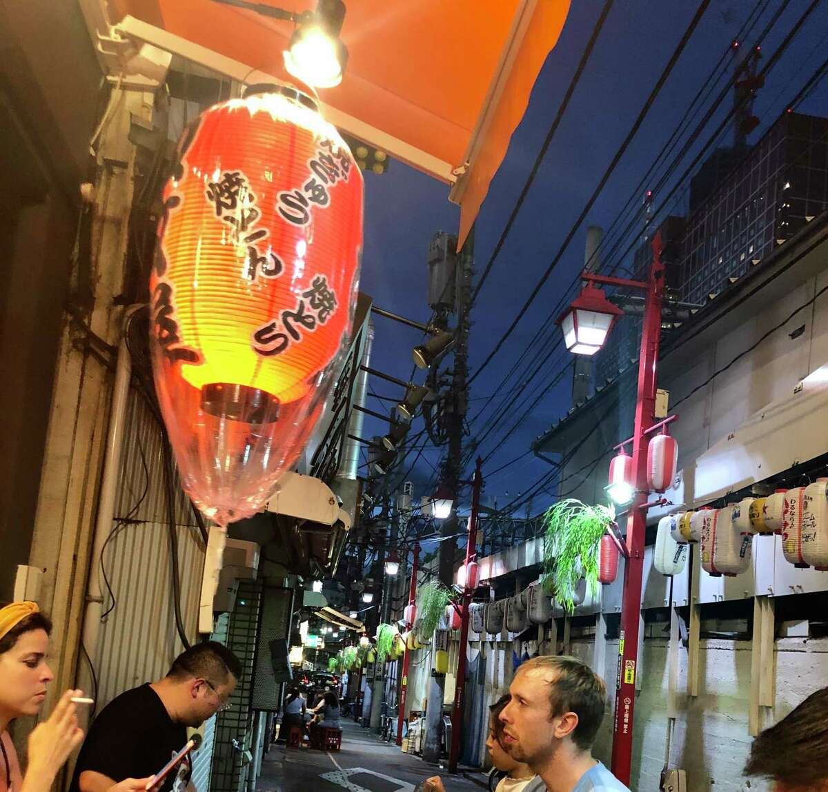 Taking a walk in Tokyo through the Shinjuku district.