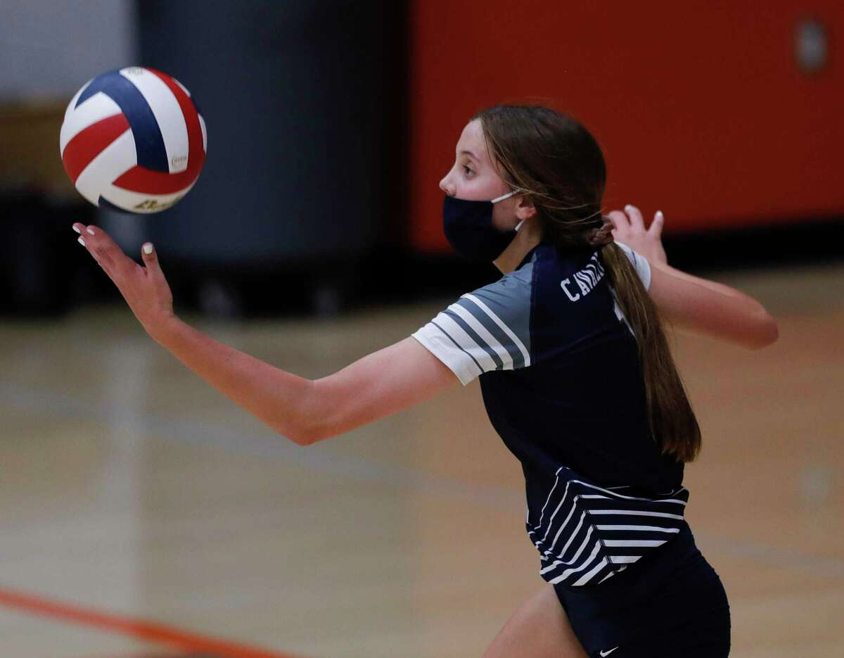 Outside hitter Paige Palmer, a Sam Houston State beach volleyball commit, earned first-team all-district honors last season after a strong 2020 campaign.