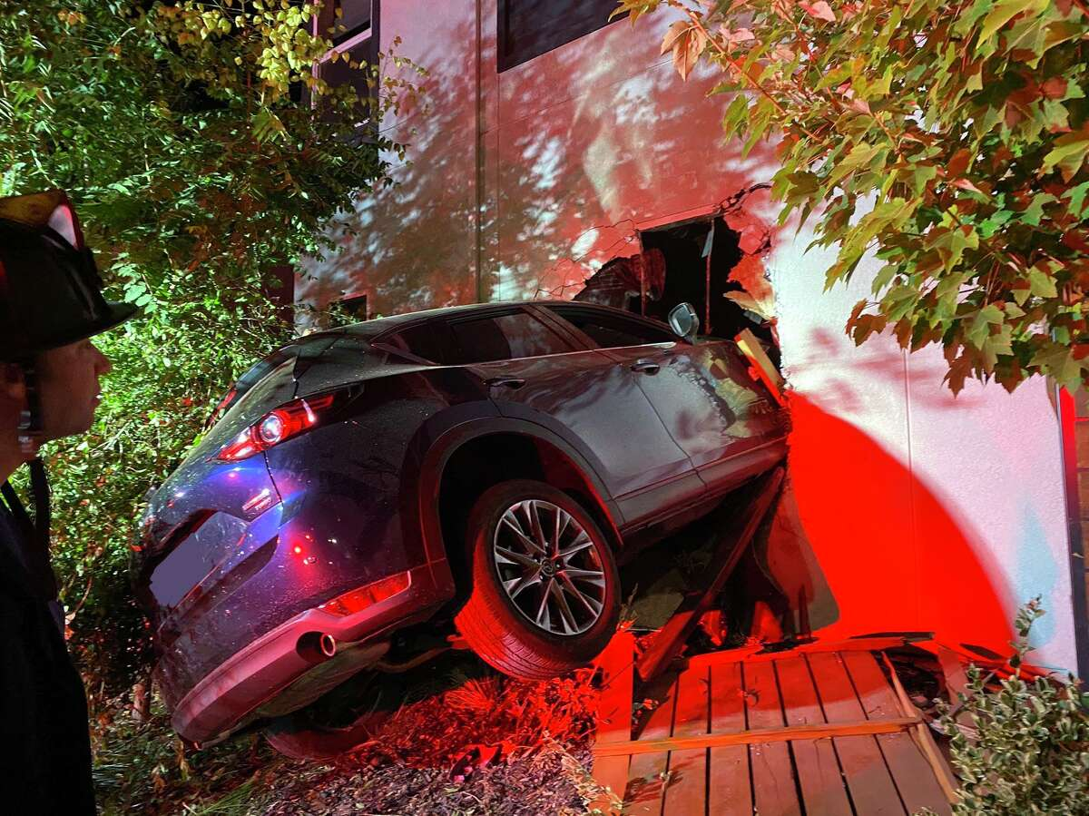 A driver was injured when their car plowed into the side of a Dublin home on Saturday, Aug. 7, 2021, according to the Alameda County Fire Department. While the home sustained severe damage, none of its occupants were injured.