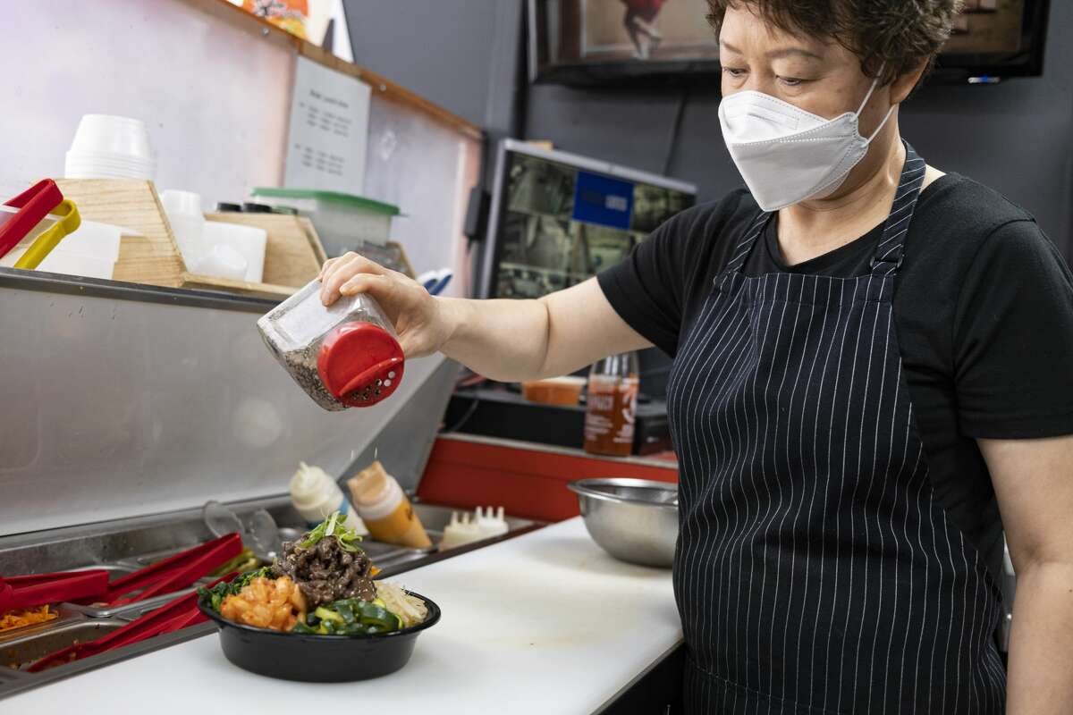 Jong Ran Park makes Korean beef bulgogi.
