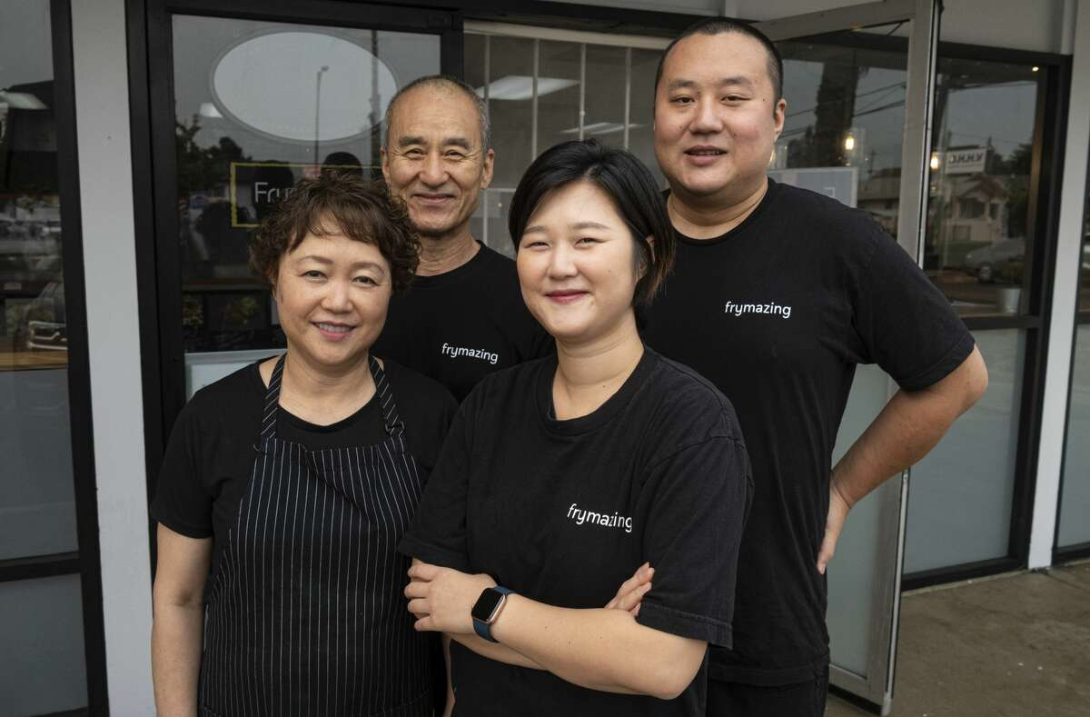 From left, Jong Ran Park, Yul Il Yoon, and children Hyun Joung Lee and Tae Yoon.