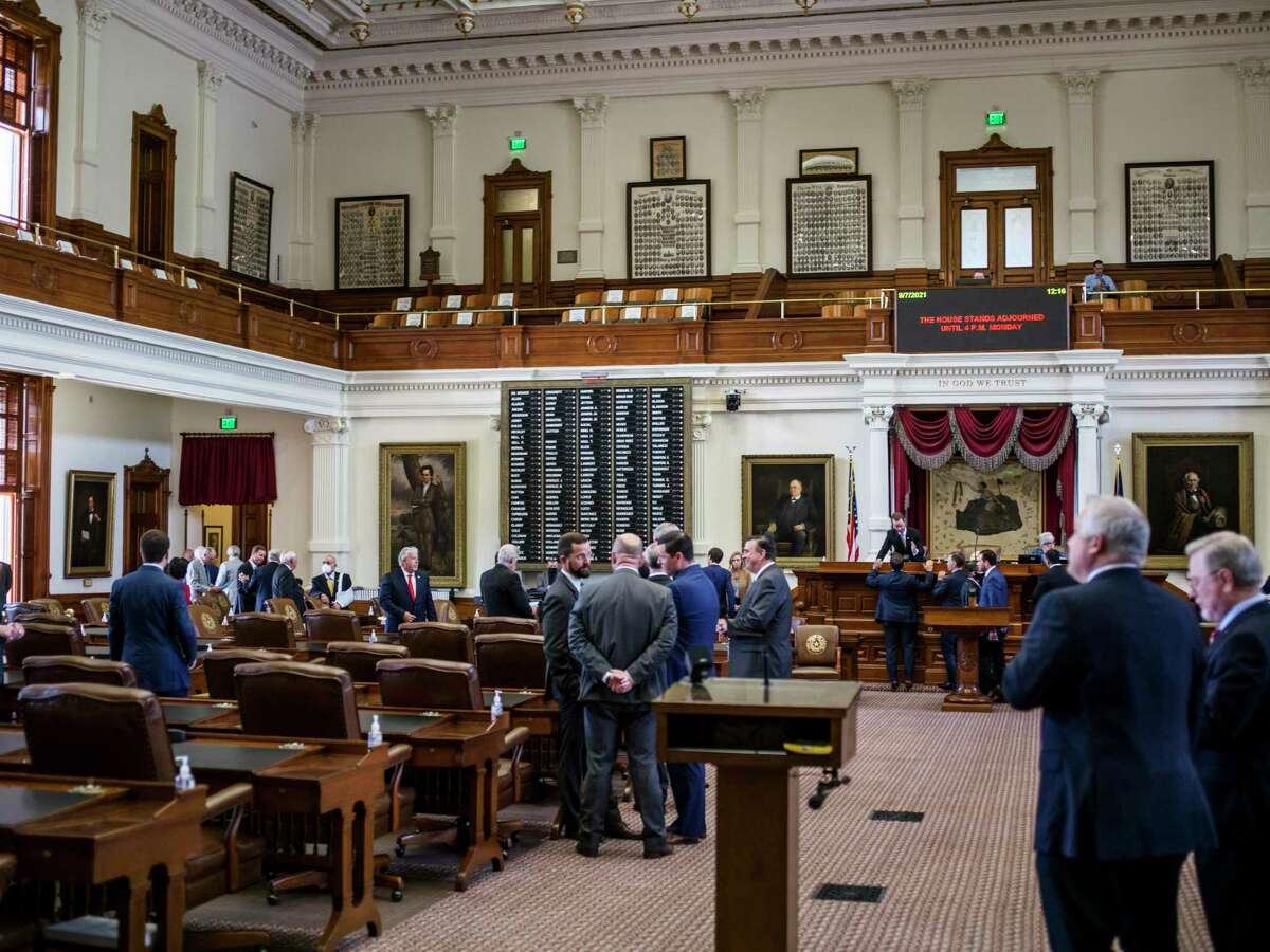 The Texas House of Representatives opens the second special session called by Governor Greg Abbott on Saturday, August 7, 2021 in Austin.