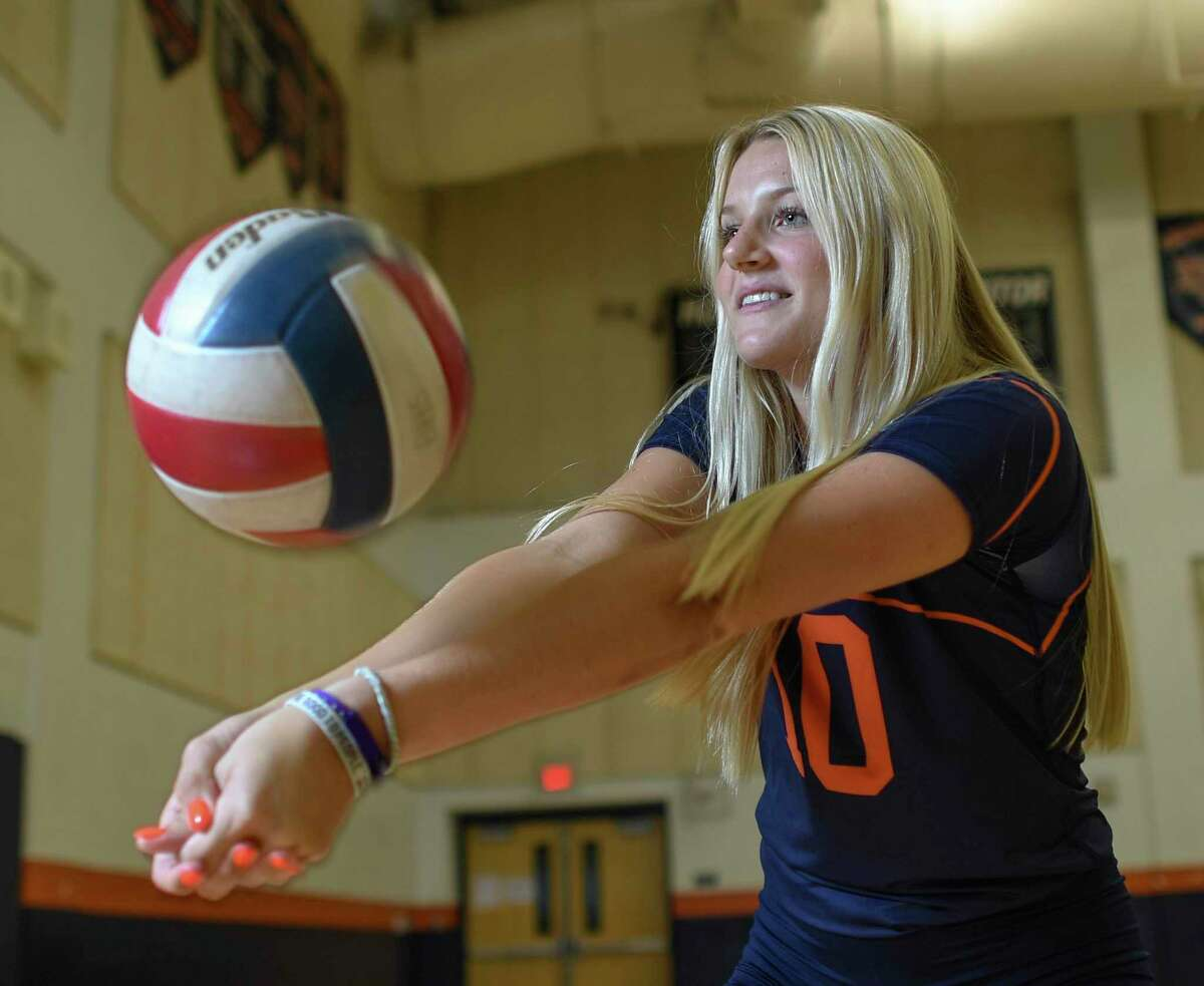 Brandeis volleyball player Carlee Pharris, one of the area's best.