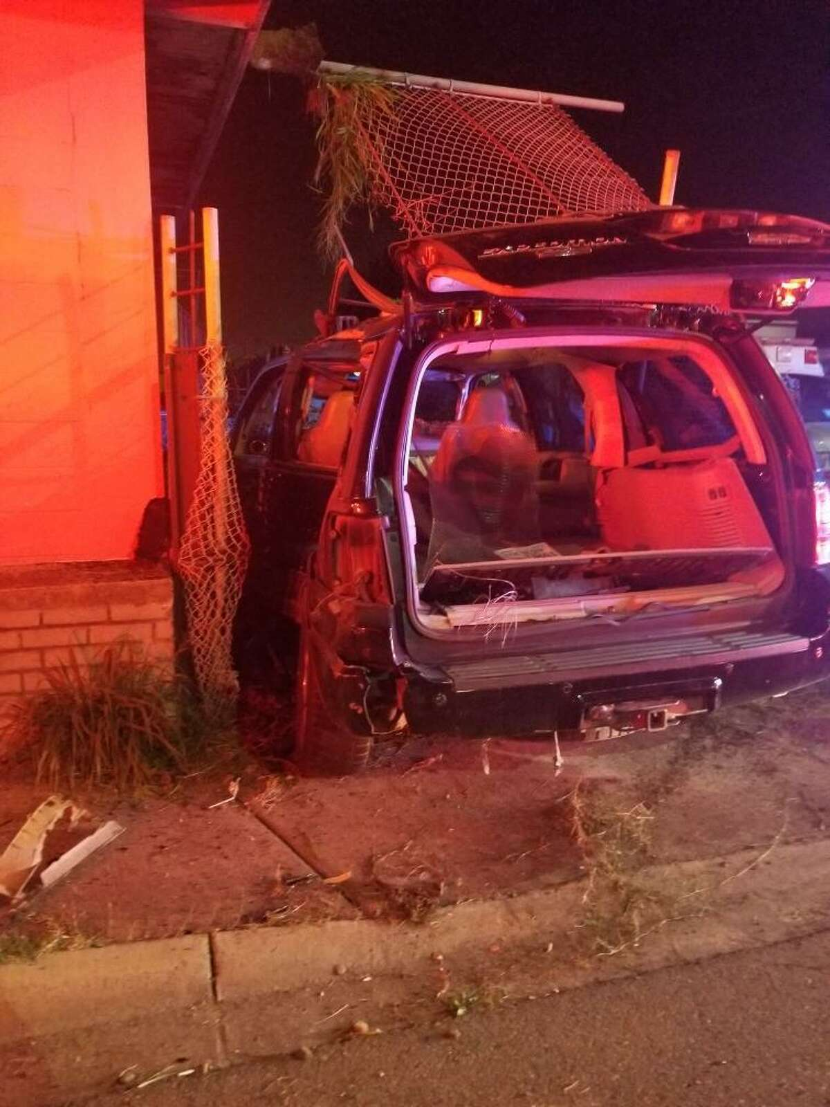 According to the Laredo Fire Department, a vehicle drove into a building on early Saturday morning.