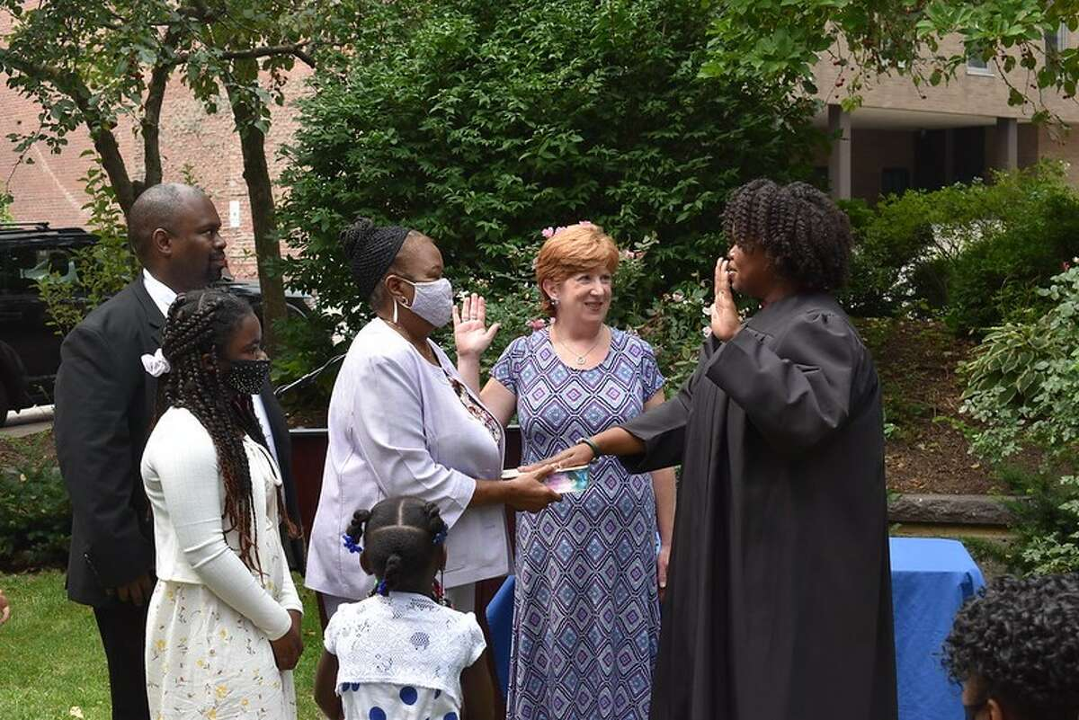 Ricja Rice was sworn in Saturday, Aug. 7, 2021, to fill the vacancy created by the retirement of City Judge Helena Heath. Rice is runing for a full 10-year term in November.