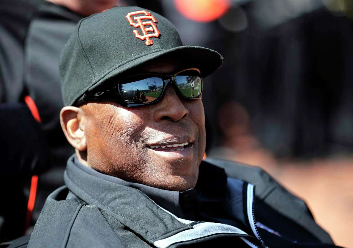 San Francisco Giants great Willie McCovey during the home opener for the San Francisco Giants as they prepare to take on the Seattle Mariners at AT&T Park in San Francisco, Calif., on Tues. April. 3, 2018.