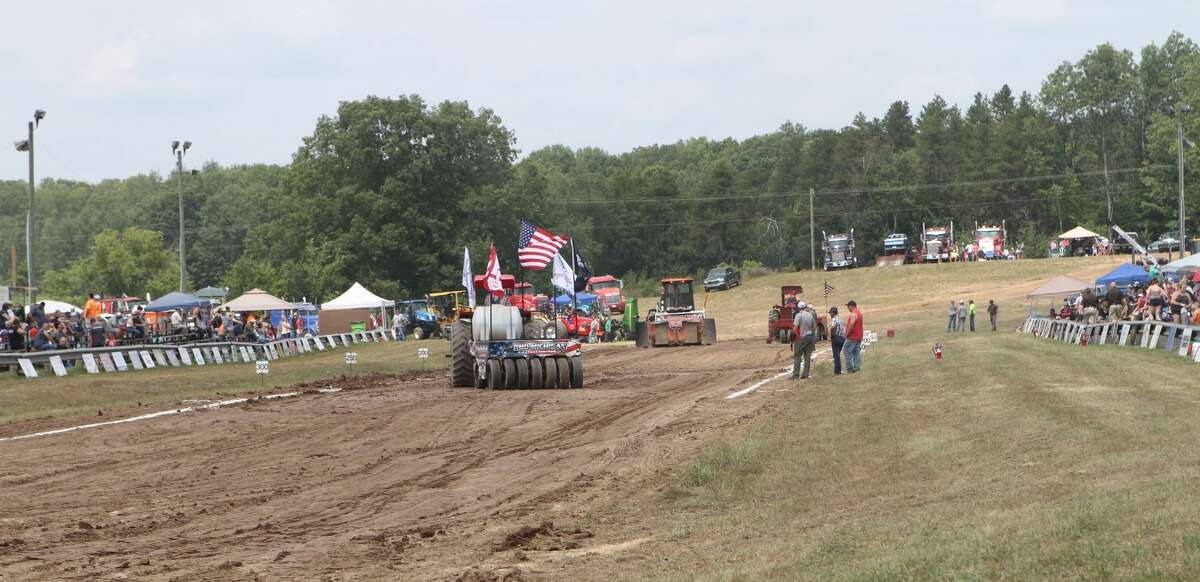 Saturday's Celebration on the Pond in Morley featured a number of different truck-pulling activities.