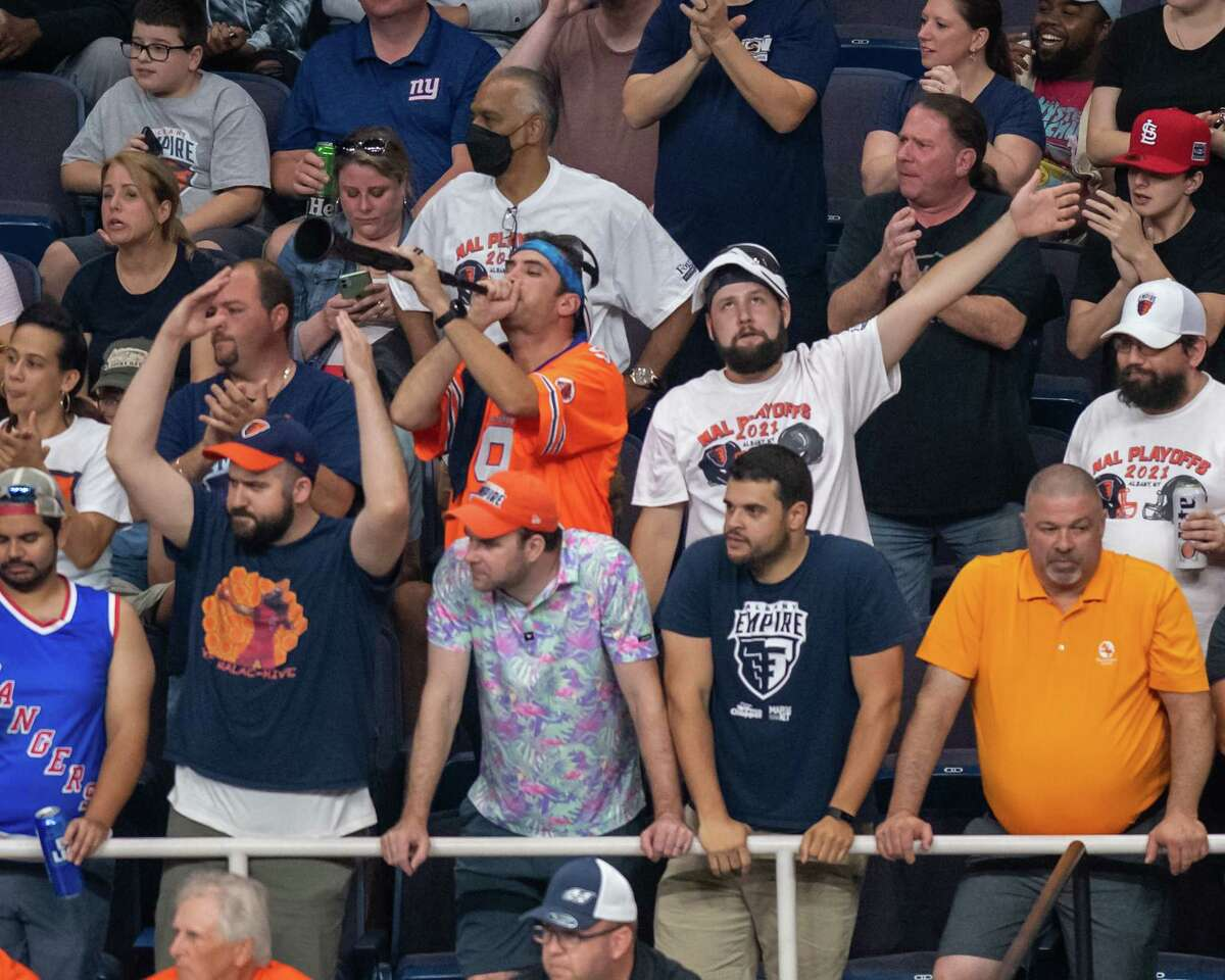 Albany Empire fans will be required to wear masks for the National Arena League championship game Saturday night at Times Union Center. (Jim Franco/Special to the Times Union)