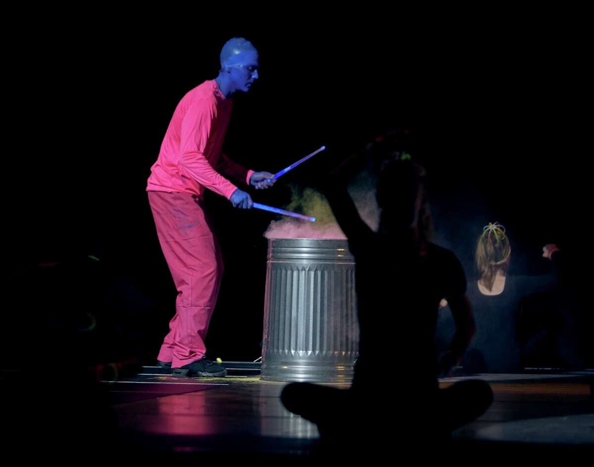 """11. I participated in """"Dancing With The Stars of Casper"""" in October of 2019 in Wyoming. I was a part of The Blue Man Group with Clint Saunders and Esther Langi. We practiced multiple times a week for five months."""