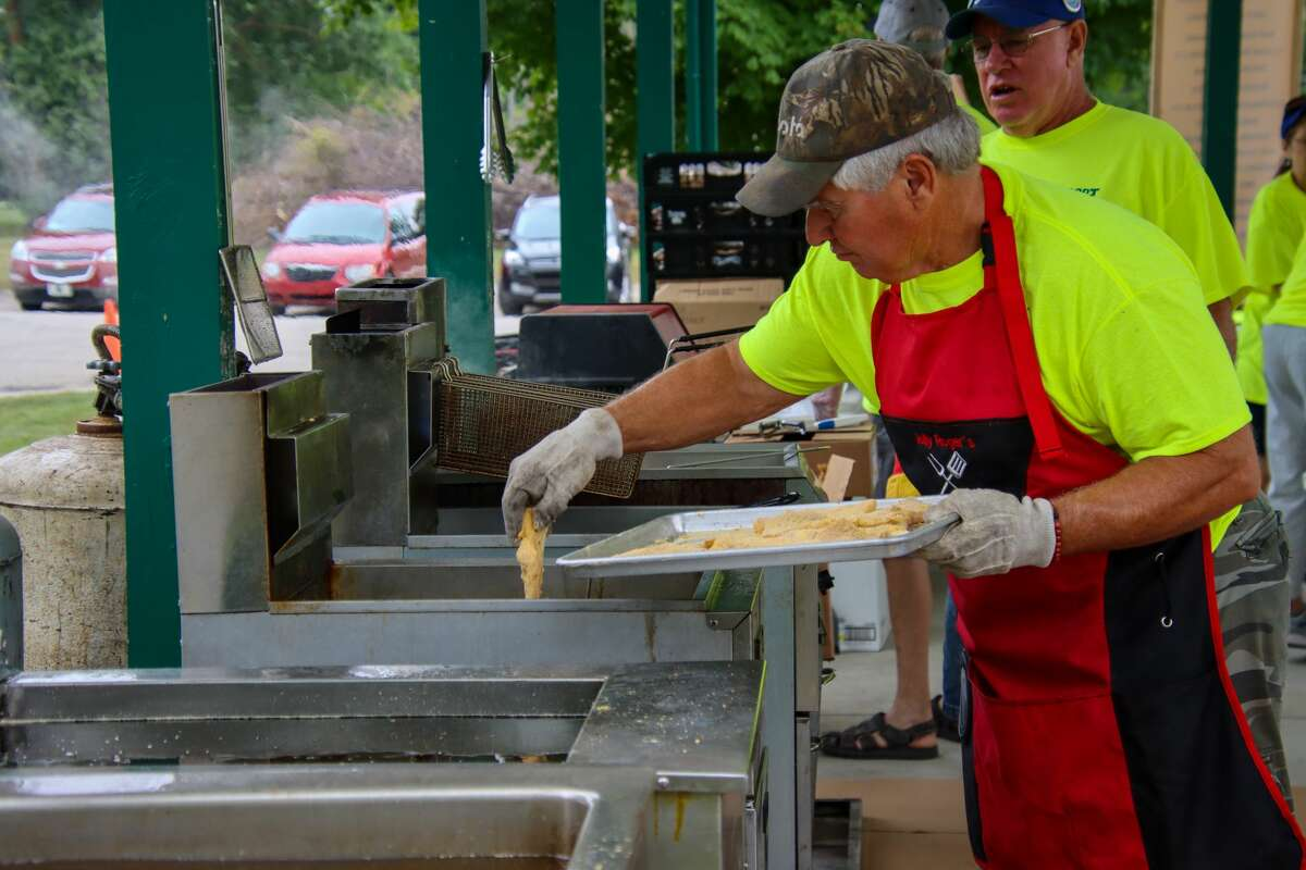 From start to finish, the fish sandwiches offered at the Bay Port Fish Festival are a long-standing tradition and a labor of love for the many volunteers putting on the event.