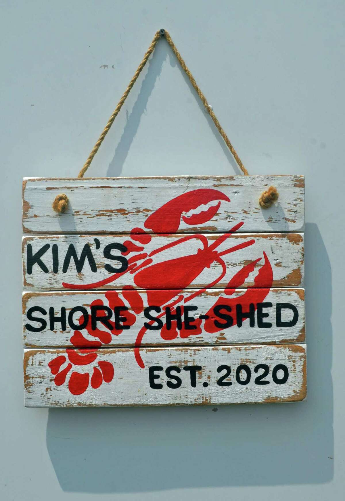 The sign on Kim's Shore-Shed food truck.