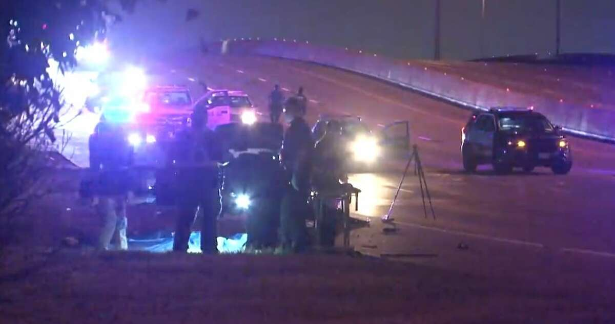 A car hit a woman on North Loop 610 near Kirkpatrick around 2 a.m.