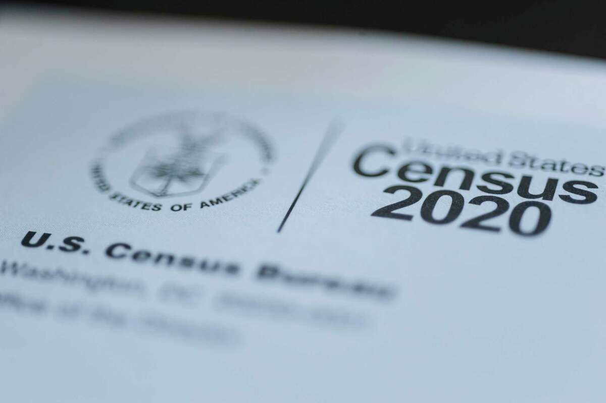 FILE - This March 18, 2020 file photo shows a form for the U.S. Census 2020. (John Roark/The Idaho Post-Register via AP, File)
