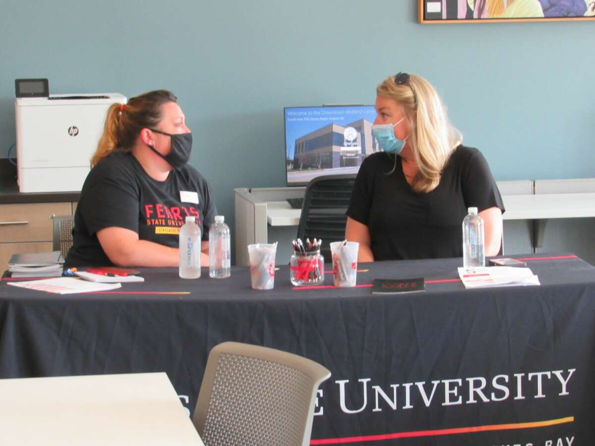 Representatives from Ferris State University were present at Delta Collage's Downtown Midland Center's open house on Saturday, Aug. 7.