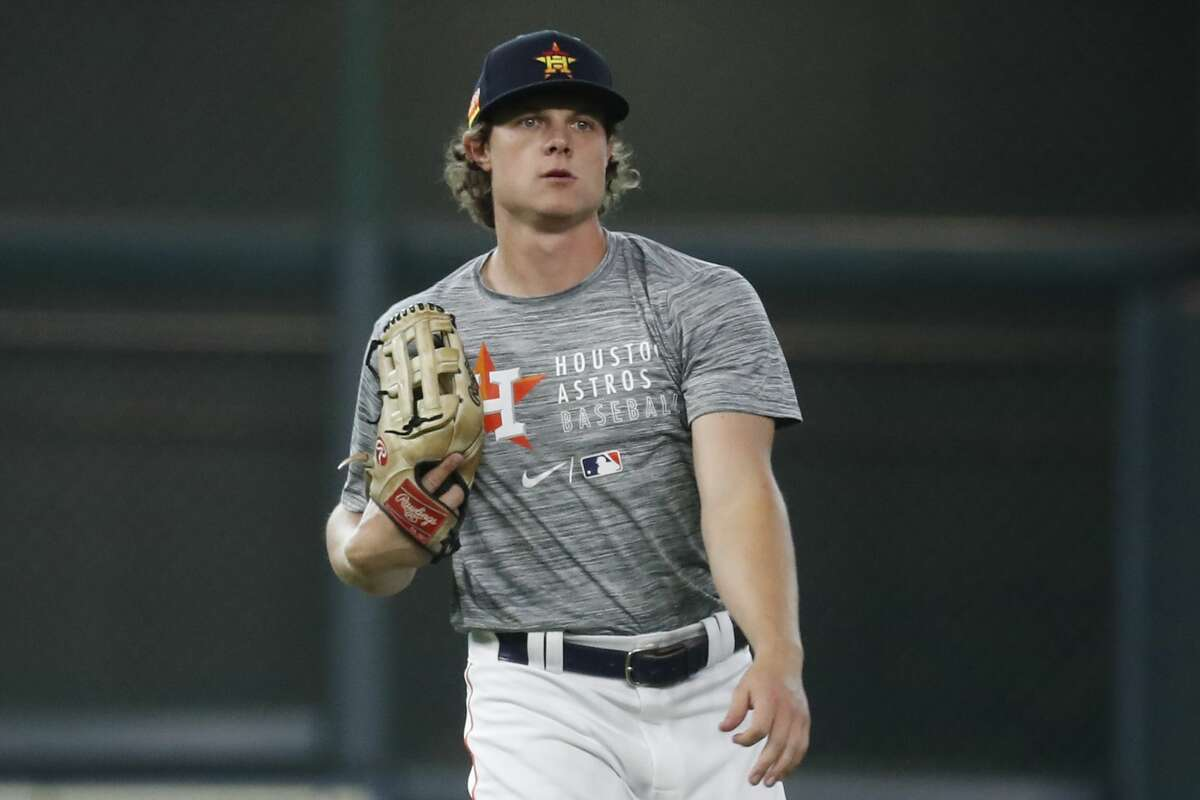 Jake Meyers earned a big league call-up but the play of others in the Astros' outfield has largely relegated him to the role of spectator.