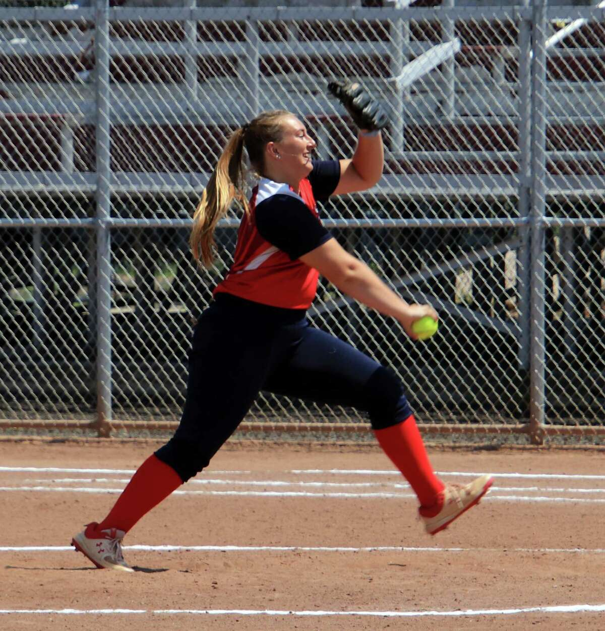 Pitcher Ali DuBois, seen here in 2020, and the Brakettes softball team were crowned WMS national champions on Sunday.