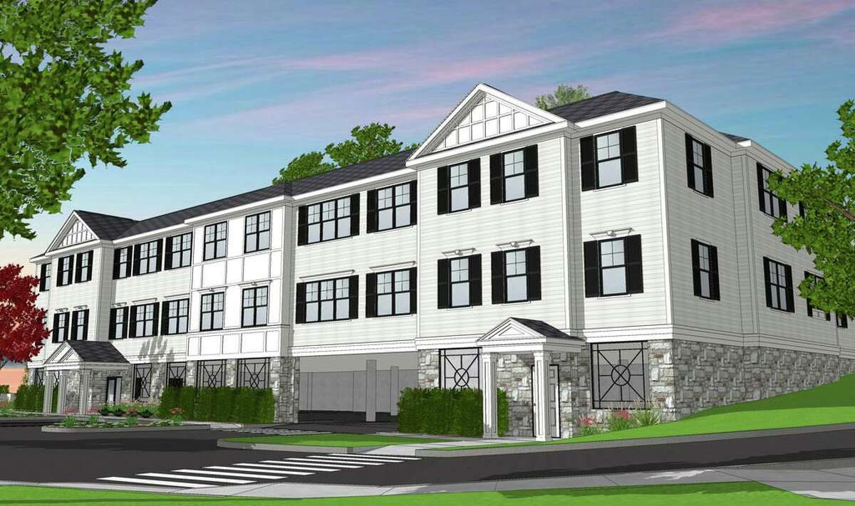 373-375 East Main Street rendering of luxury apartment, mixed use development on East Main in Branford