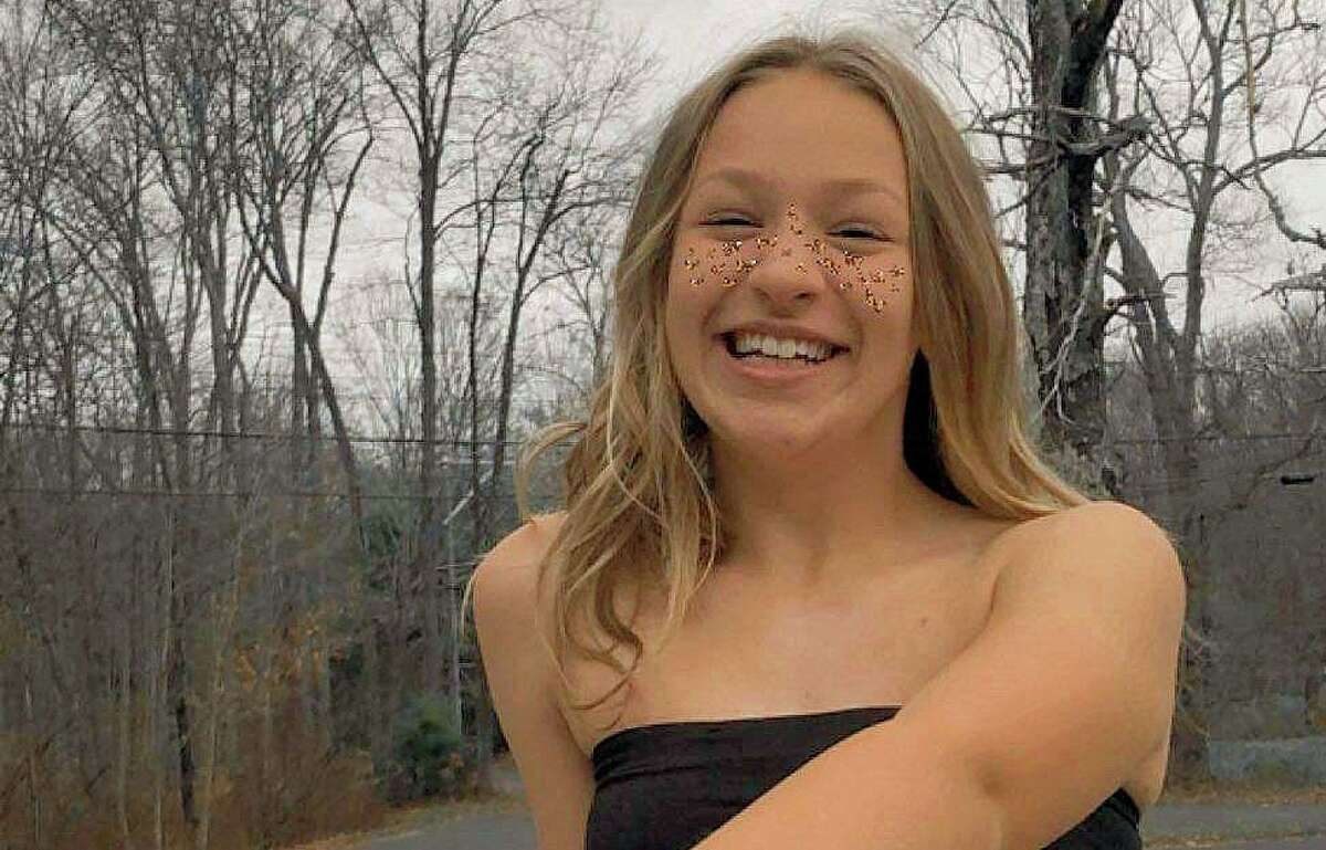 Gianna Vincelett, 14, who was riding her bicycle on Route 81 July 29, was killed by a hit-and-run driver. In this photo, a Snapchat filter gives the appearance of sparkles on her face.