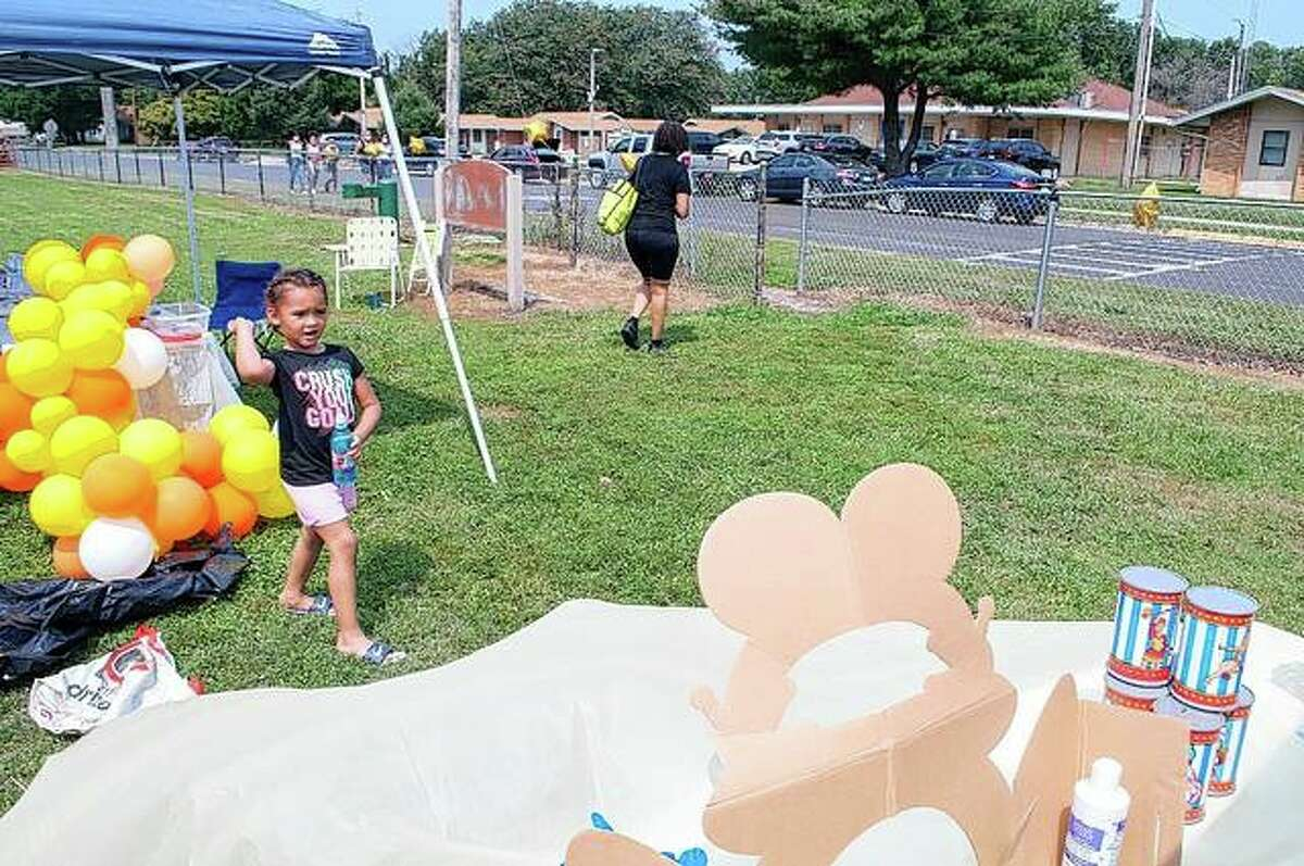 Dozens turned out Saturday for fun, food and music during a back-to-school event sponsored by the Jacksonville branch of the NAACP. Health screenings and school supplies were also offered during the day. More photos are available at myjournalcourier.com.