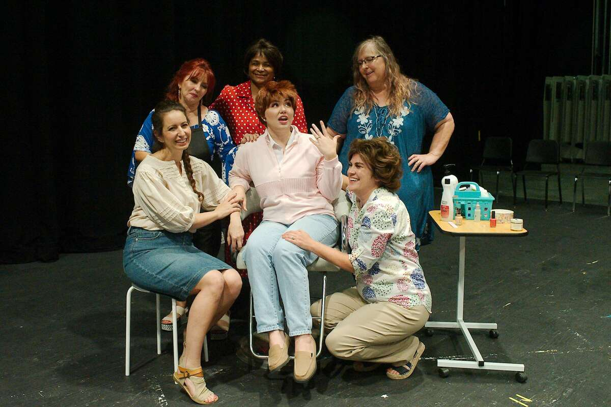 Tracie Richeson, Rachel Rodriguez and Juliet Rogers, rear, and Lauren Calderaro, Nichole Johnson and Tracy Whatley rehearse. Admission is a minimum donation of $10 per adult and $8 per student or other child. Details: 713-740-0370.