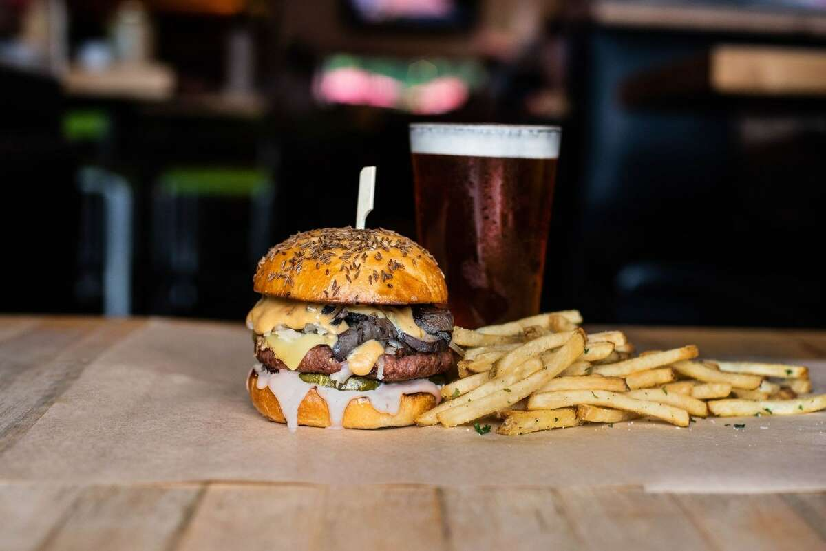 Hopdoddy's August Burger of the Month is the Beyond a Reuben, featuring the new, even juicier Beyond Burger.