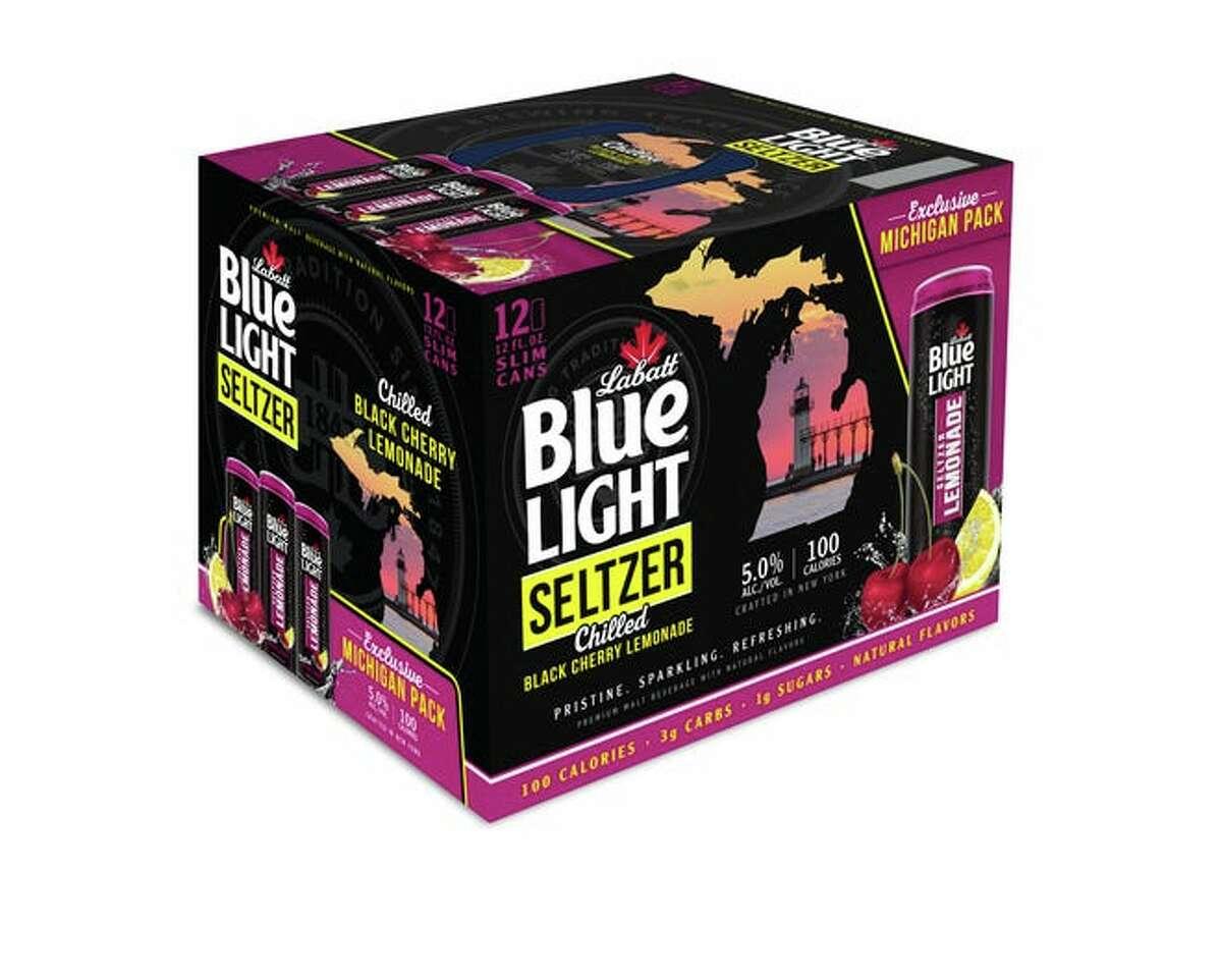 Pictured is Labatt Blue Light Black Cherry Seltzer Lemonade.