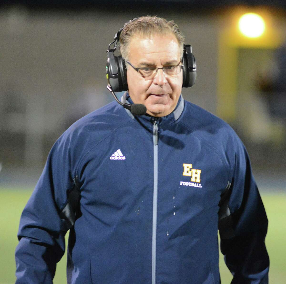 East Haven coach Scott Benoit.