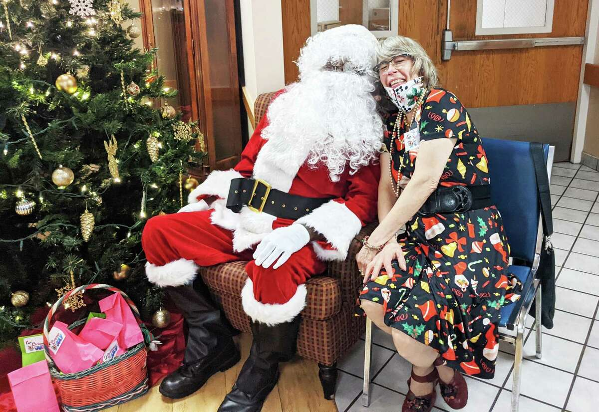 """Wadsworth Glen Health Care and Rehabilitation Center held a """"Christmas in July"""" for residents and families recently so they could reunite with loved ones after more than a year of being apart due to the pandemic."""