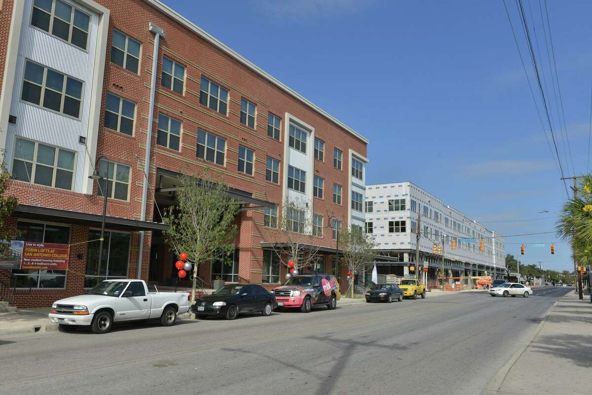 Tobin Lofts along North Main Avenue, shown during construction in 2013.