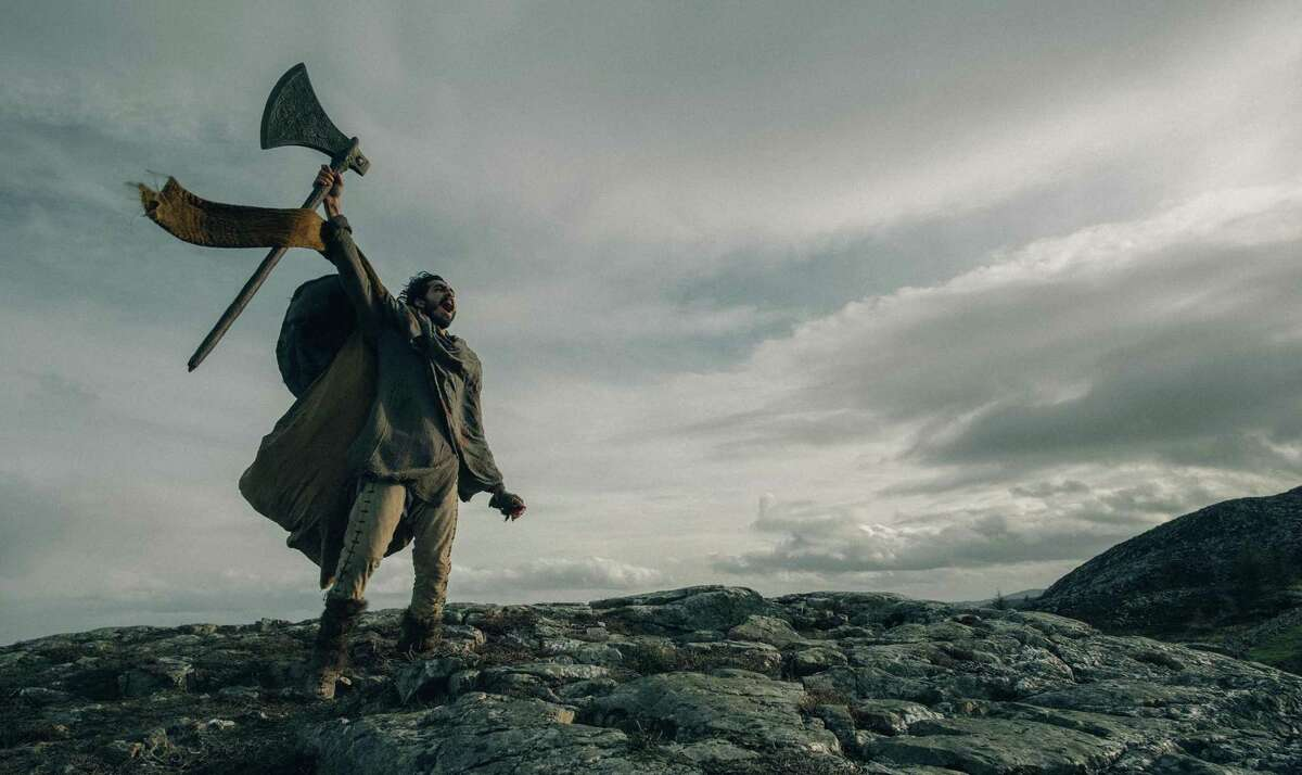 "Dev Patel in the film ""The Green Knight."" (Eric Zachanowich/Courtesy A24/TNS)"