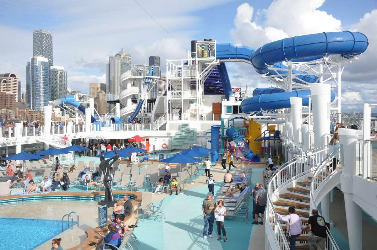 Norwegian Cruise Line Encore in Seattle, Wash. on August 8, 2021