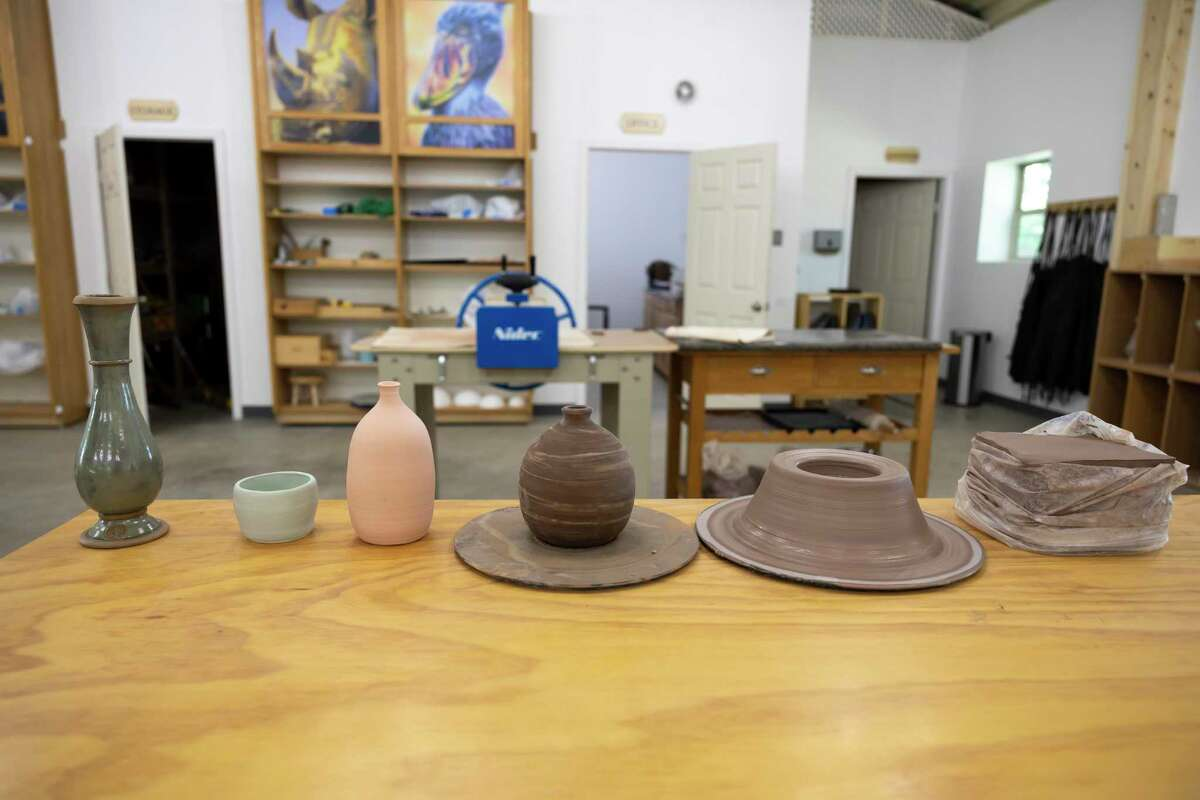 Pottery is seen at Woodland Lane Ceramics, Saturday, Aug. 7, 2021, in Magnolia. The studio offers a variety of packages for all level of skills and ages through a 5-week and 12-week program.