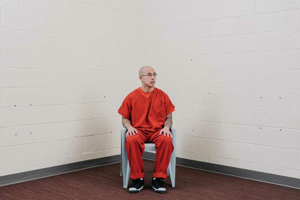 Phi Pham, 30, of Hayward sits in an ICE detention facility in Aurora, Colo. on Aug. 2, 2021. Despite serving as a prison firefighter and a record that earned him an early parole, Pham was ordered deported to Vietnam, where he's never been, on Aug. 10, 2021.