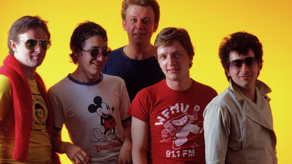 Squeeze back in the early 1980s. Chris Difford is at left. (Getty Images)